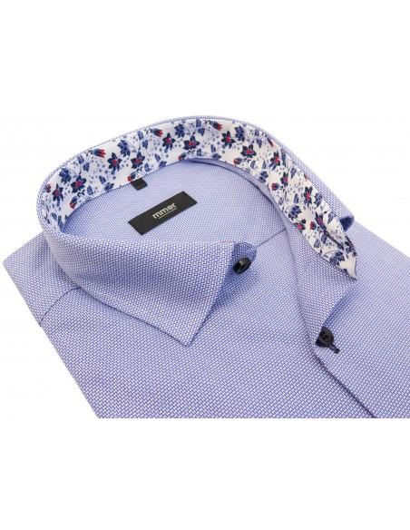 Błękitna koszula męska w pionową cegiełkę 353