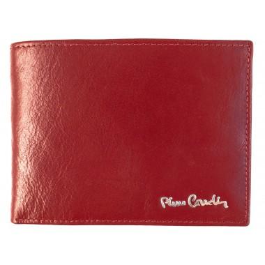 Skórzany czerwony portfel Pierre Cardin PF11