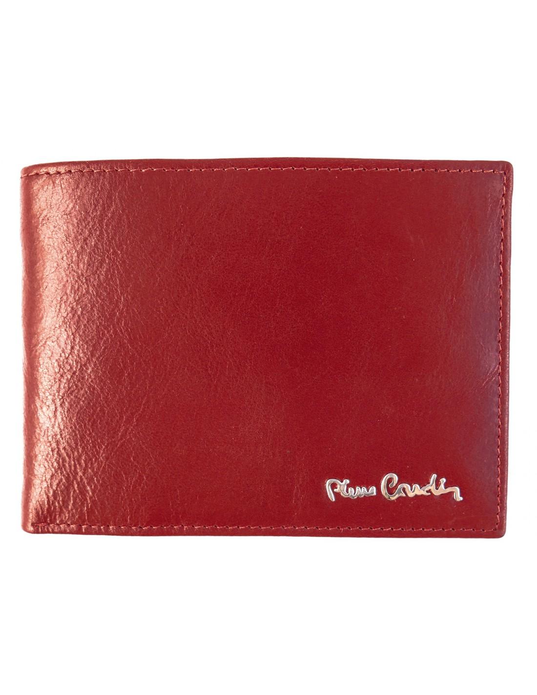 3684fa92ca842 Czerwony skórzany portfel męski Pierre Cardin PF11
