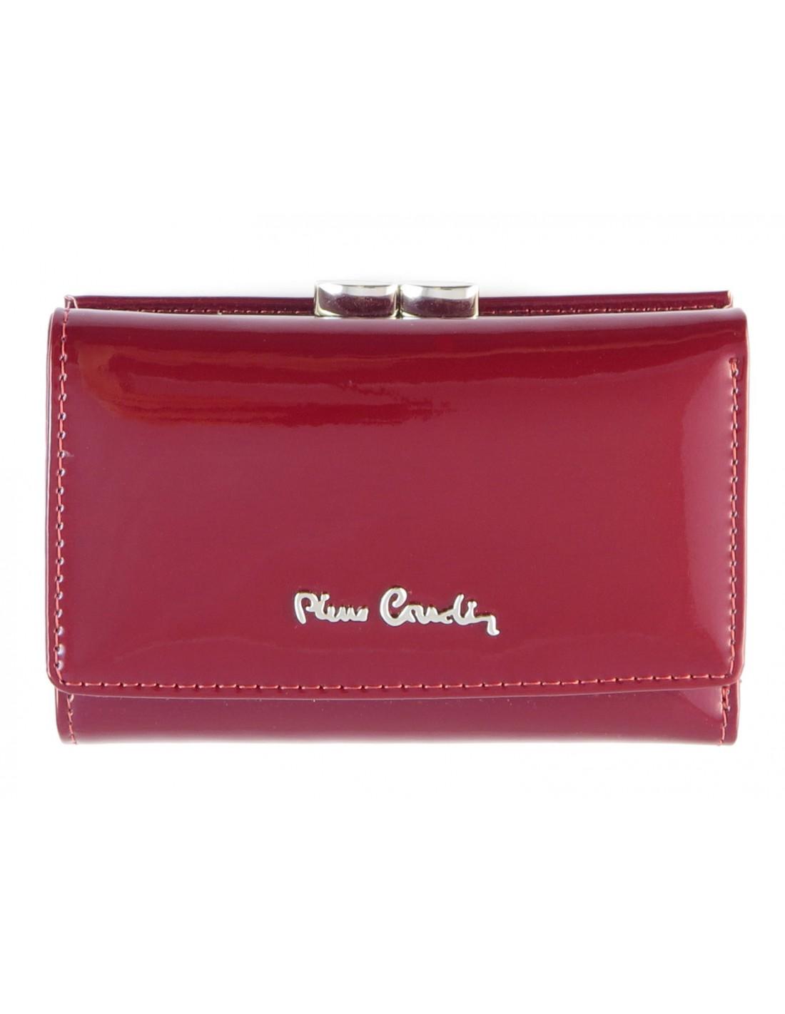 9ec273fd5887f Czarwony lakierowany portfel damski Pierre Cardin PFD4