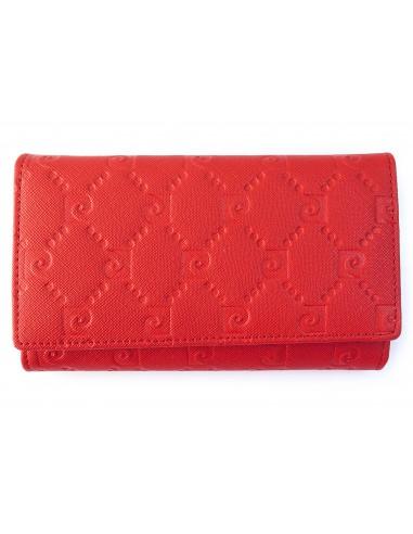 Czerwony portfel damski Pierre Cardin PFD10
