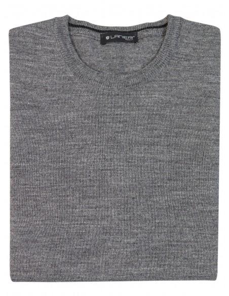 Szary sweter męski SW31 - niski półgolf