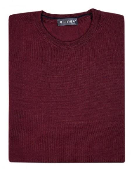 Bordowy sweter męski SW32 - półgolf niski