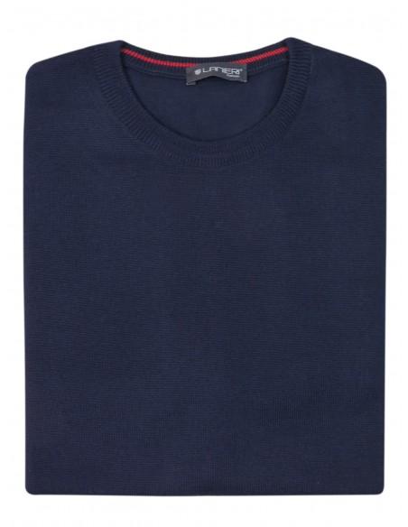 Granatowy sweter męski SW33 niski pólgolf