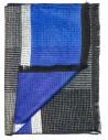 Szaro-niebieski szalik męski R32