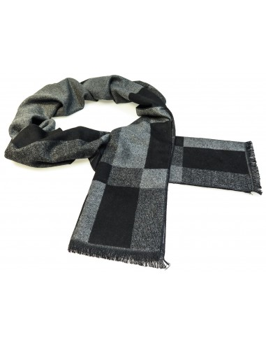 Szaro-czarny szalik męski R25