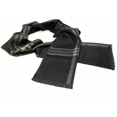 Szaro-czarny szalik męski R26