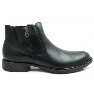 Czarne buty zimowe - sztyblety BZ2