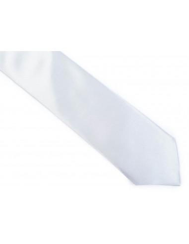 Srebrny krawat z poszetką - jasny BK13