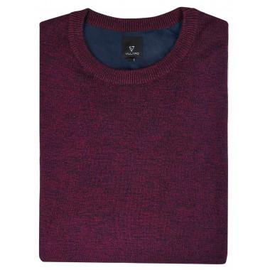 Burgundowy sweter męski SW35