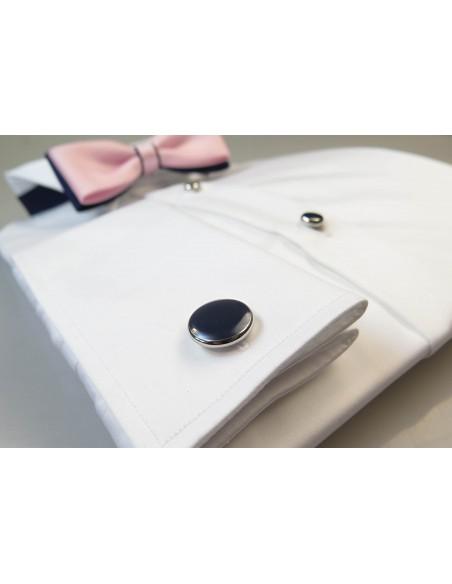 Biała koszula ślubna smokingowa M2