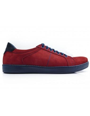 Czerwono-granatowe obuwie sportowe T110