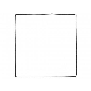 Biała poszetka z czarnym obszyciem E184