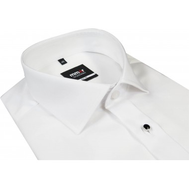 Biała koszula smokingowa z kołnierzykiem półwłoskim Mmer 094