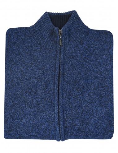 Granatowy rozpinany sweter męski SW38 blezer