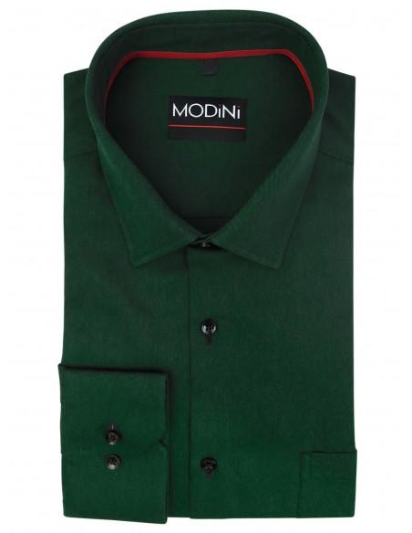 ZIelona koszula męska A39