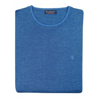 Jeansowy sweter męski SW44 - półgolf niski