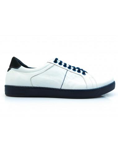 Biało-granatowe obuwie sportowe T114
