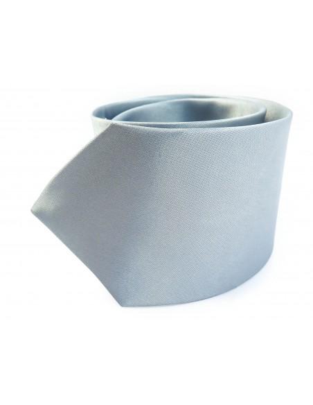 Srebrny krawat z poszetką
