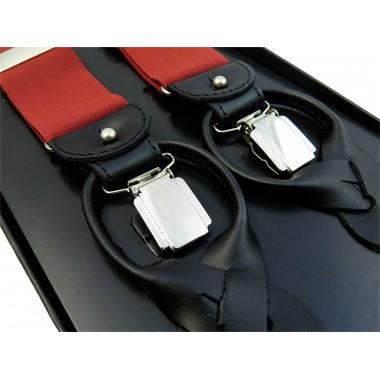 Czerwone szelki męskie na guziki G2