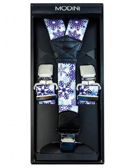 Świąteczne szelki - płatki śniegu SZ68
