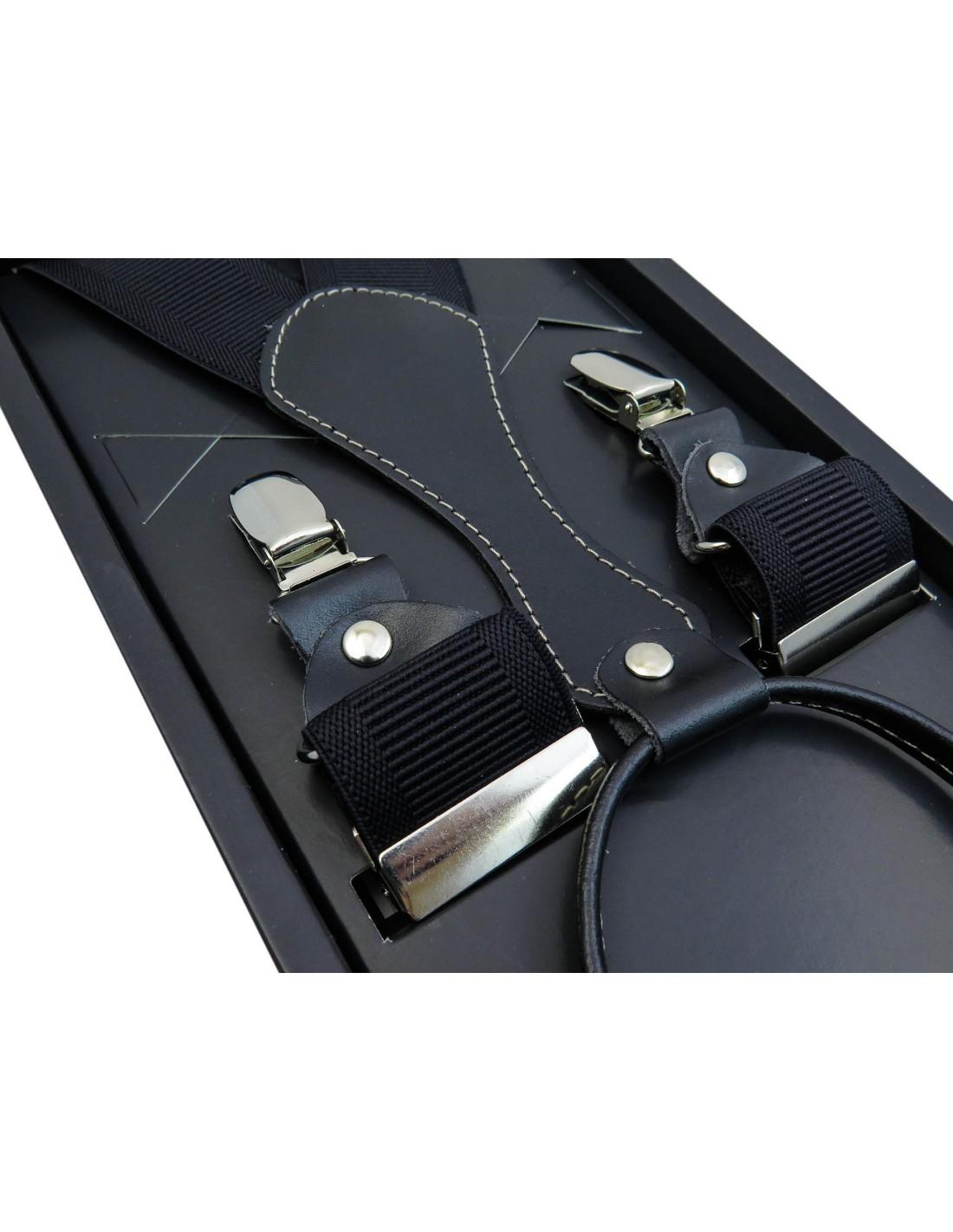 8b56bfea8ae41 Czarne klasyczne szelki męskie do spodni SZ1 | Sklep Internetowy ...