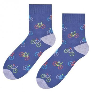 Jenasowe damskie skarpetki w rowery SK142