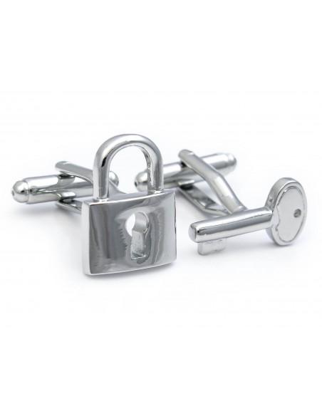 Spinki do mankietów - kłódka i kluczyk U186