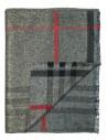 Szaro-czerwony szalik męski R14