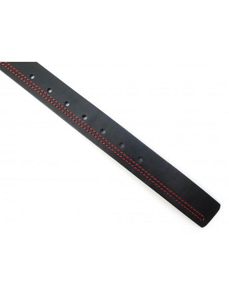 Czarny pasek z czerwonym przeszyciem KMG25
