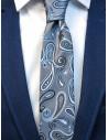 Szary krawat męski w paisley C13