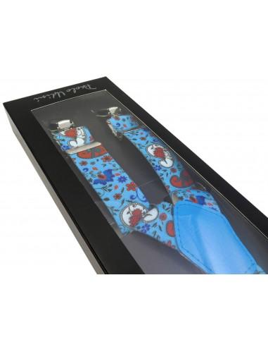 Niebieskie szelki wzór paisley x30