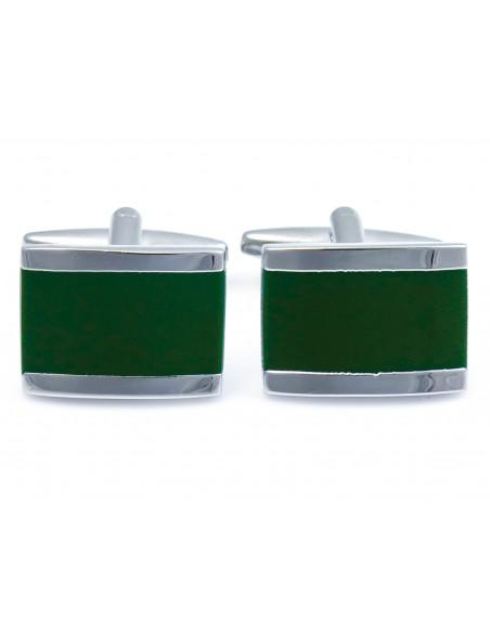 ZIelono-srebrne spinki do mankietów N91