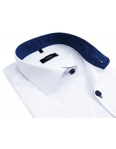 Biała koszula Mmer z granatowymi wykończeniami 798