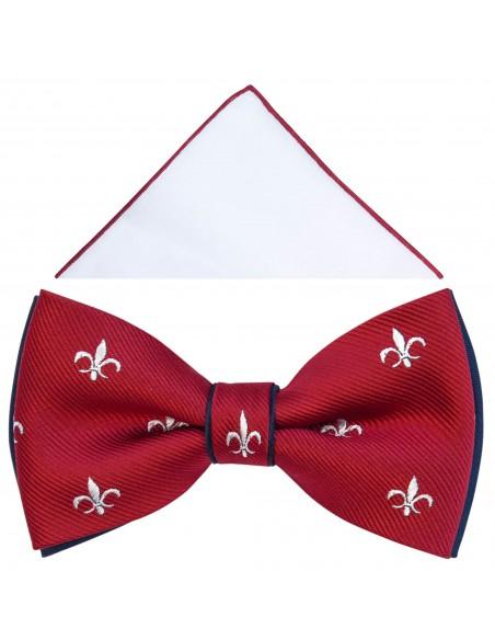 Czerwona mucha w ornamenty A314