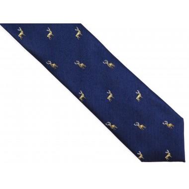 Granatowy krawat męski w jelenie D248