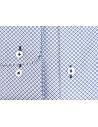 Biało-granatowa koszula z długim rękawem we wzór K72