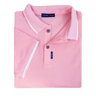 Męska koszulka polo - jasny róż KP8