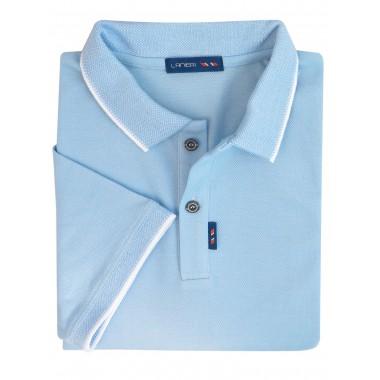 Męska koszulka polo - błękitny KP7