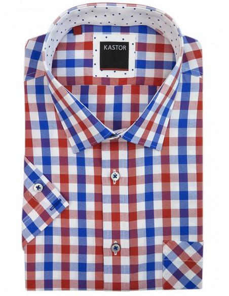 Koszula z krótkim rękawem w kratę K73