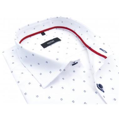Biała koszula z krótkim rękawem 543K