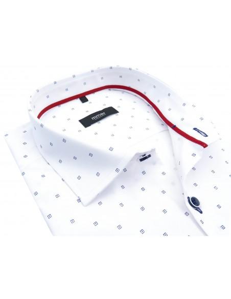 Biała koszula z krótkim rękawem 117K
