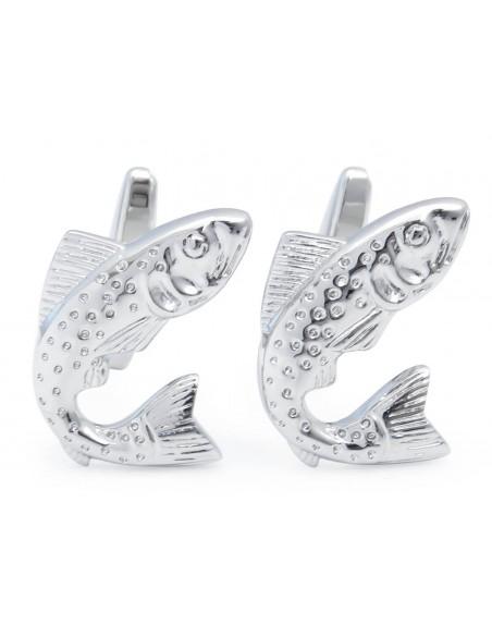 Srebrne spinki do mankietów - ryby U199