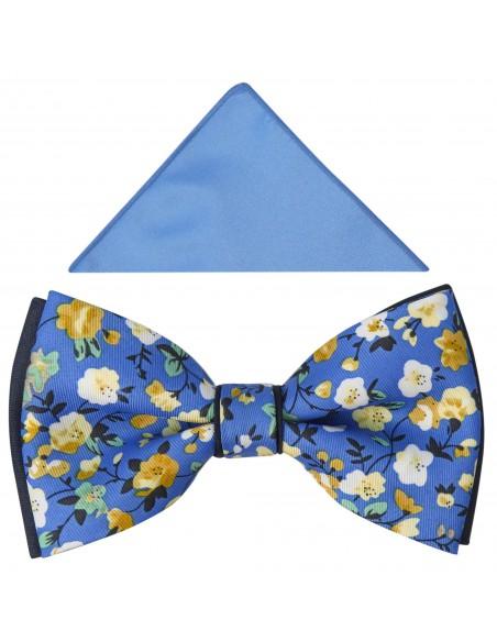 Niebieska mucha w kwiaty A331