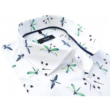 Biała koszula w ważki Mmer 756