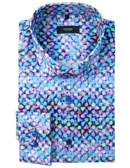 Kolorowa koszula w unikatowy wzór - kropki 876