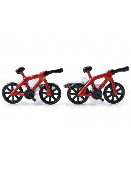 Czerwono-czarne spinki do mankietów - rowery czasowe N126
