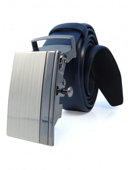 Granatowy męski pasek - automatyczna klamra KMG33