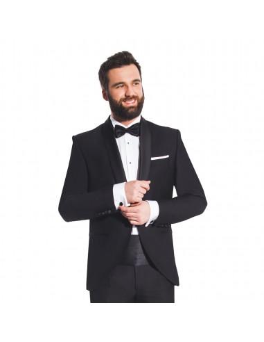 Czarny smoking męski slim - Garnitur smokingowy Tuxedo