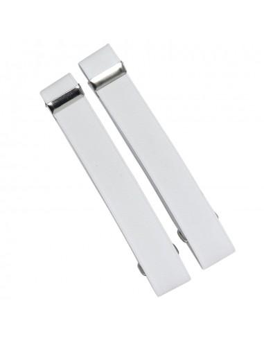 Białe opaski do rękawów koszuli X2